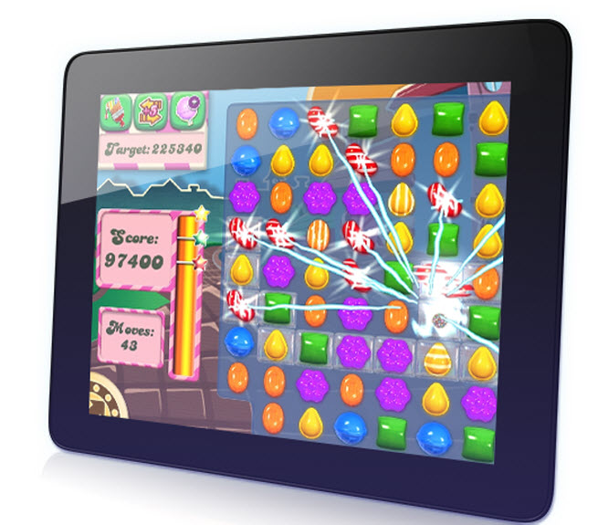 King's Candy Crush Saga for mobile devices.