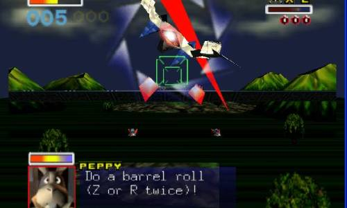 "Peppy: ""Do a barrel roll!"""