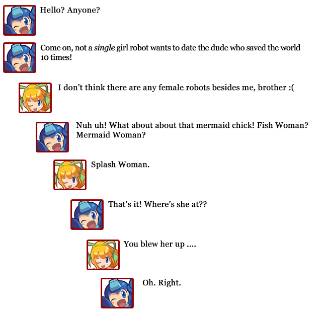 Extra Hearts: Mega Man -- Roll comments