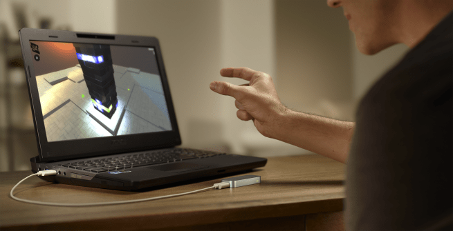 Leap Motion camera enables gestural control on PC.