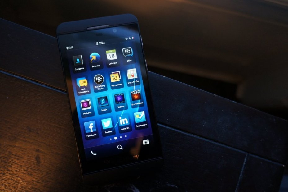 The BlackBerry Z10 smartphone.