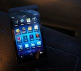 The BlackBerry Z10 smartphone.