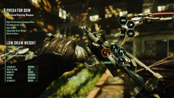 Crysis 3: Customizing the bow