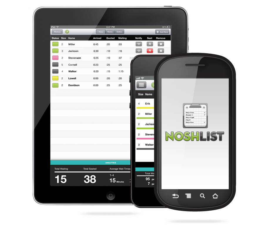 NoshList apps