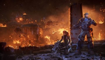 Gears of War: Judgment burning city
