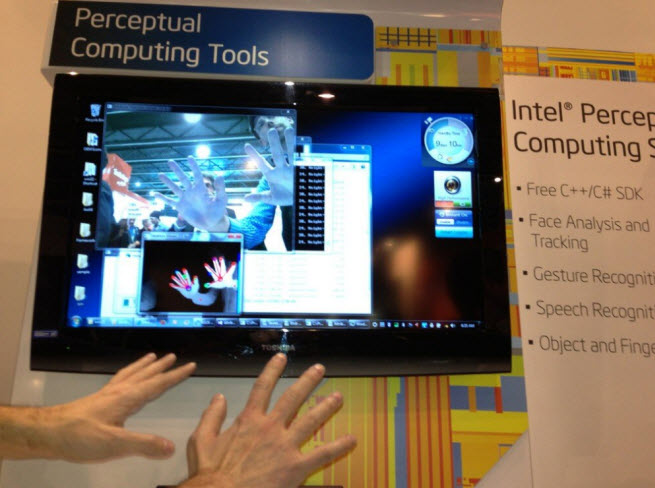 Intel vision for gesture-controlled PC.