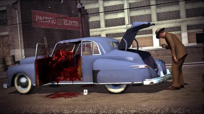 LA Noire bloody car