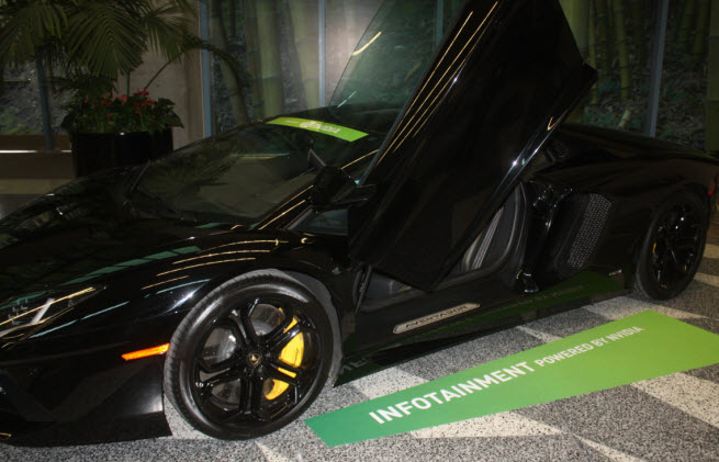 Nvidia's Tegra chips power the nav screen on Lamborghini's latest car