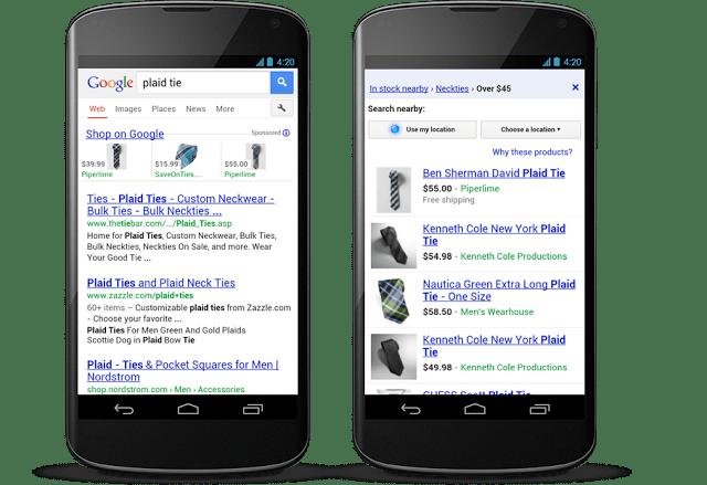 Google mobile shopping ads