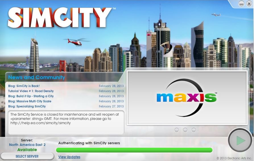 SimCity is down