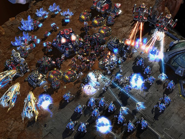 StarCraft 2 in action.