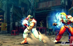 Street Fighter's Ken and Ryu battle it out.