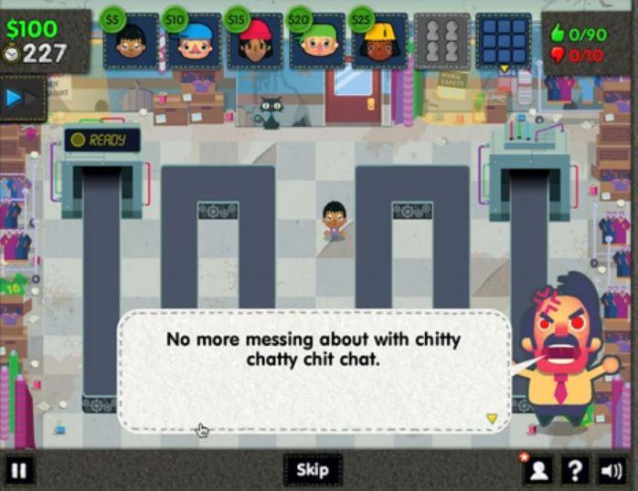 Sweatshop HD App Store mobile game