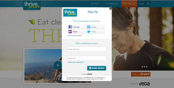 Social login via Janrain in action