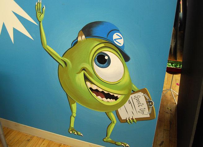 Monsters Inc. artwork in ZocDoc's office