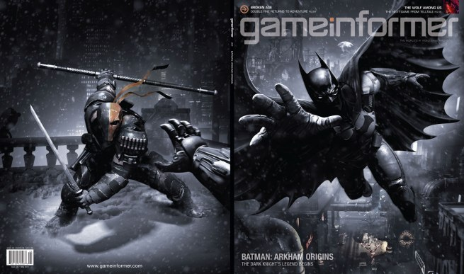 Game Informer cover Arkham Origins Warner Bros. Montreal Rocksteady Studios