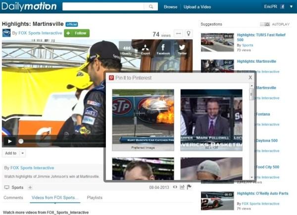 Dailymotion, Pinterest