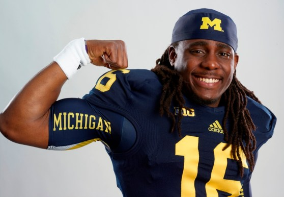 NCAA Football 14 - Denard Robinson photo shoot 1