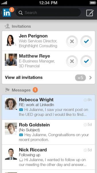 LinkedIn Inbox