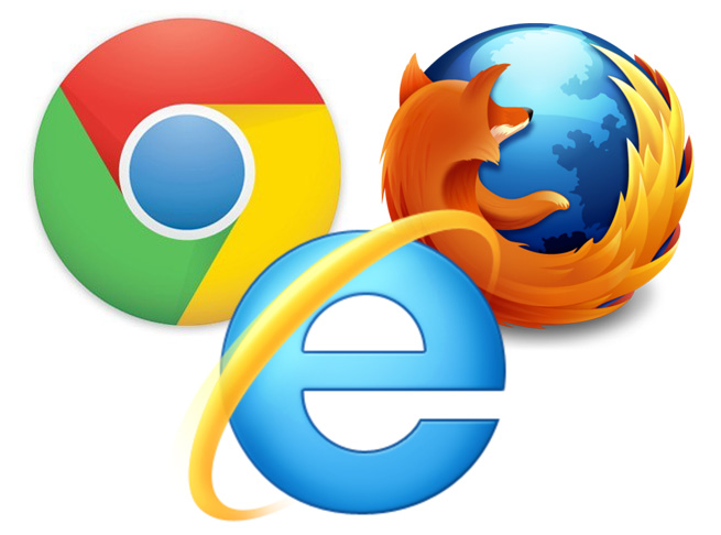 ie chrome firefox