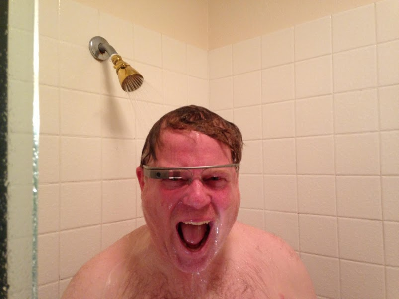 scoble shower google glass