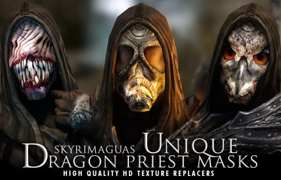 Skyrim: Unique Dragon Priest Masks