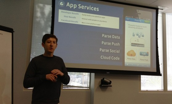 Ilya Sukhar, the founder of Parse, at the Facebook campus
