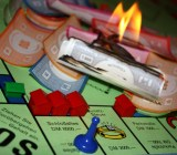 monopoly money cash burning