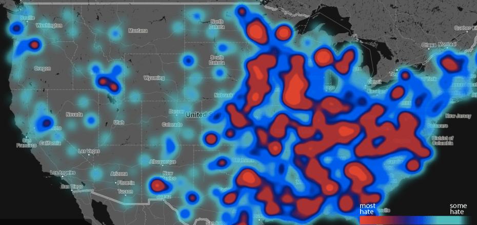 hate speech maps