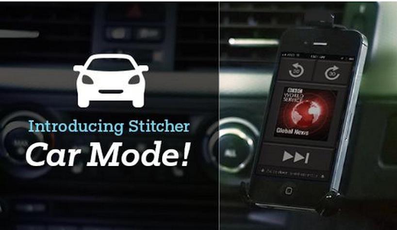 Stitcher car mode
