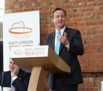 Prime Minister David Cameron believes East London will rival Silicon Valley.