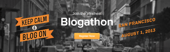 Viralheat's Blogathon promotional banner
