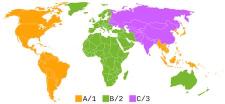 BluRay Region Map
