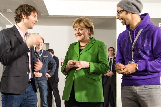 Matt Cohler, Angela Merkel, Ijad Madisch at ResearchGate