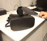 Oculus VR's Rift head-mounted display.