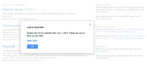 google reader shutting down