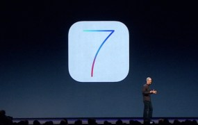 Apple CEO Tim Cook shows off iOS 7, which iPhone and iPad customers are adapting at a rapid pace.