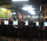 An Asian Internet cafe.