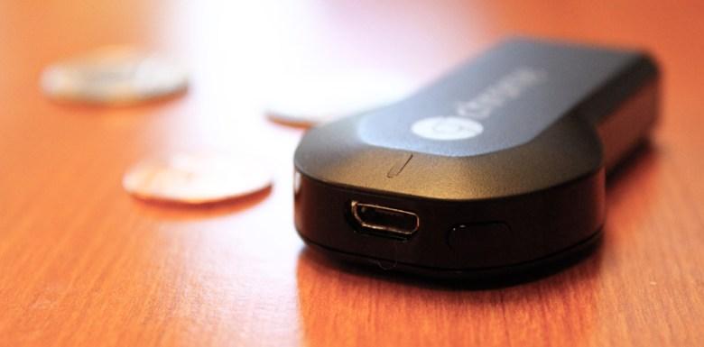 Chromecast USB charger port