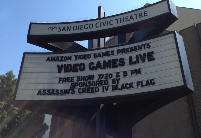The marquee for Video Games Live.