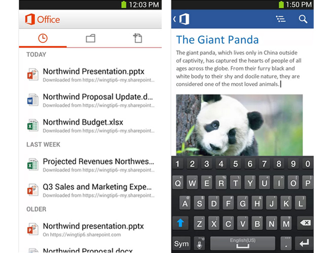 Microsoft Office for Android