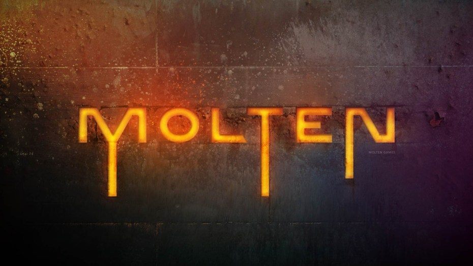 New developer Molten Games' logo.