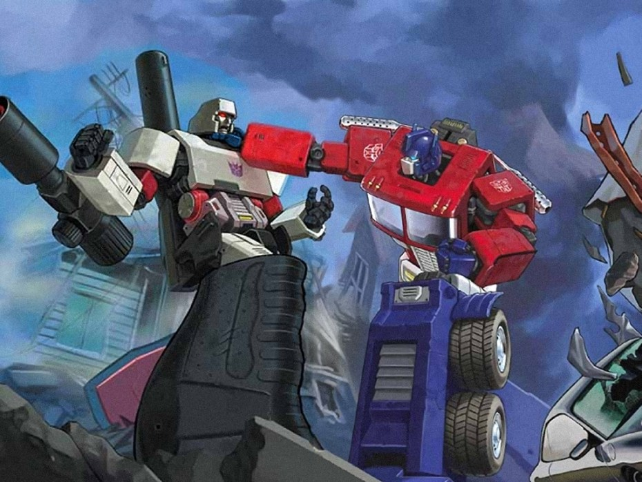Optimus Prime takes down Megatron, the baddest bot of all.