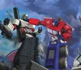 Optimus Prime takes down Megatron, the baddest bot of all.