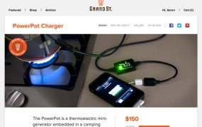 The PowerPot Charger is one of Grand St.'s hottest items