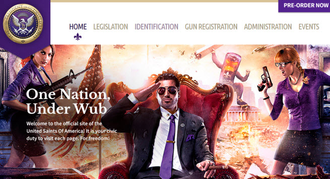 Saints Row IV gov site