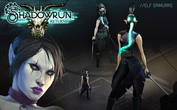 An example of the Samurai character class in Shadowrun Returns.