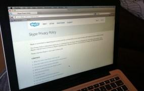 Skype privacy