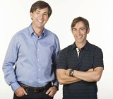 Don Mattrick (left) and Mark Pincus of Zynga.