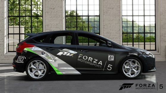 The 2013 Ford Focus ST is exclusive to Forza 5 Day One Edition.